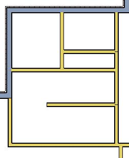 Creating Rooms To define rooms using interior walls 1. Select Build> Wall> Straight Interior Wall, then click and drag to draw interior walls.
