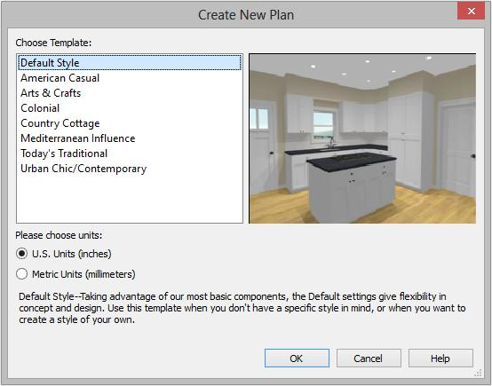 Getting Started 4. The Create New Plan dialog displays next. 5.