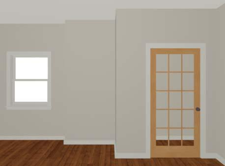 Placing Doors and Windows 5. On the Frame & Lites panel, set the Frame Bottom to 8 inches.