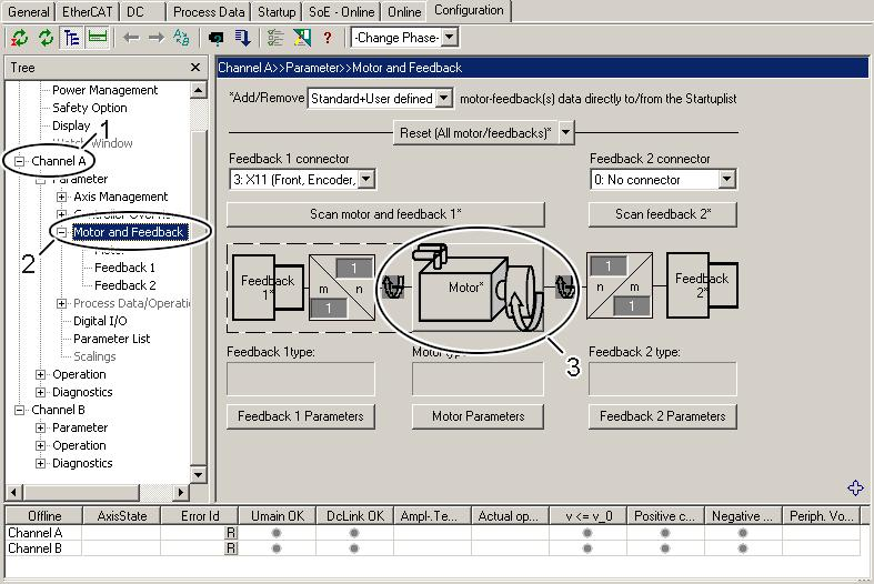 Electrical installation 9.13.3 TwinCAT Drive Manager Servo drives are parameterized via the TwinCAT Drive Manager (TCDM).