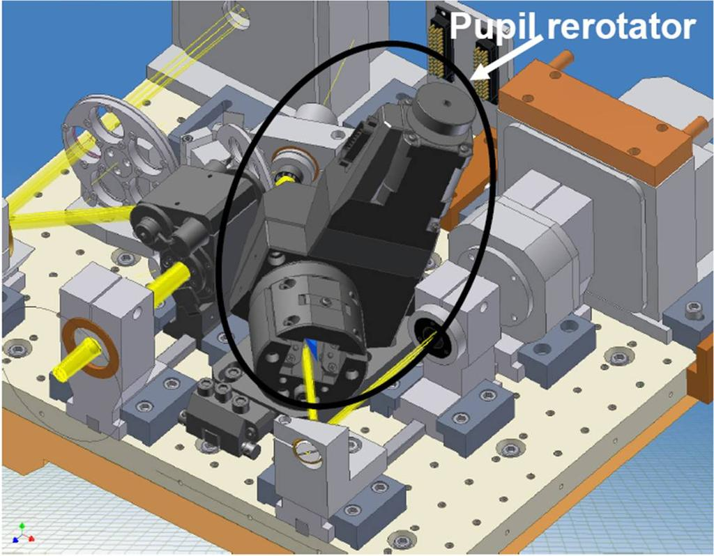 2.3. The AGW unit the same correspondence between M2 actuators and pixel pupil image, the footprint of the 672 actuators has to be correct using another pupil Rerotator [A.Tozzi & al.