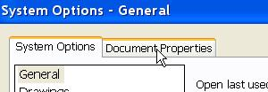 standard toolbar Select Document Properties Select Image