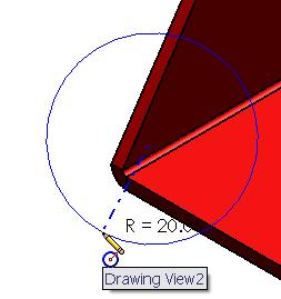 Smart Dimension Select Smart Dimension from the Annotation toolbar. Using the same technique as in dimensioning sketches, select the two edges defining the distance to be dimensioned.