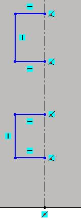 arrow beside Line command) Hover over the edge of the base flange and the midpoint