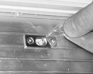 5). Be sure strike plate is straight and parallel with the door frame.