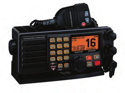 VHF-DSC RADIO If you have purchased or are considering purchasing a new marine radio, you will notice that the new radios have a distinctive red flap over one of the switches, labeled DISTRESS.