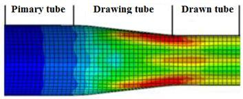 To obtain steady-state conditions, away from the tube ends, a piece of tube 200 mm long was modeled.