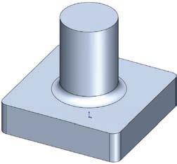 Fillet (adds material) * Fillets and Rounds: Using the same Fillet command, SolidWorks knows whether to add material (Fillet) or remove material