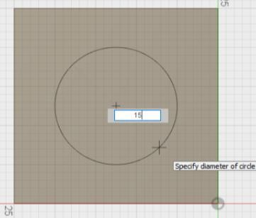 Select SKETCH Centre Diameter Circle tool and