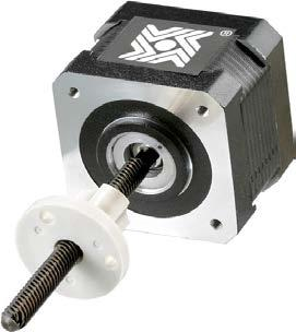 These encoder ready actuators can be used to install several popular hollow shaft encoders. They are available with an extended rotor journal and a threaded rear housing.
