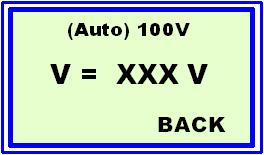 In the 2nd line it shows by E-Feld Measurement E = (actual value) kv/m By pressing the Button(4) you can change the