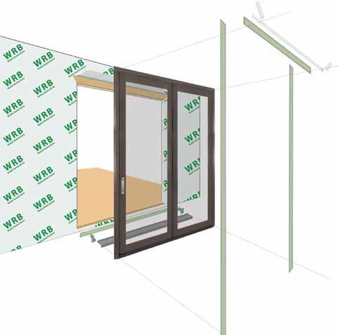 A G B D C H F H E H A. Apply Weather Resistive Barrier B. Apply Bottom Flashing Tape C. Install Sill Pan End Caps & Pan D. Caulk Sides & Top Nailing Surface, Set Door, Fasten E.