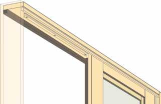 d) Install Interior Head Stop While your helper keeps the top of the Active Door Panel pushed into place, retrieve the Interior Head Stop and snap it back into place in the top of the frame.