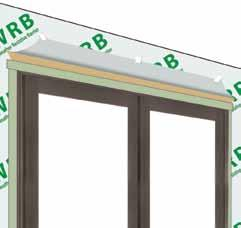 Drip Cap Sun continuous frame door units, with their integrated nailing fin, do not require an additional drip cap. Mulled units, like doors with sidelites, do.