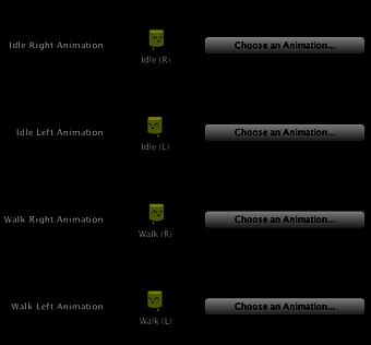 "8) Then choose the desired animations by clicking on the ""Choose an Animation"" button and selecting the animation sequences you want. it for the first Behavior!"