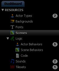 2) The Create New Scene dialog will appear. Enter a name of your choosing.