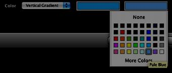 """ Select two colors by clicking inside the white boxes and then clicking on the desired colors."