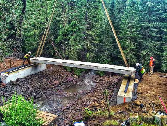 French Creek Bridge, Gallatin National Forest, MT 15 Solid slab 37 x 4 (4 pieces), grade beams (2 pieces), wing walls (4