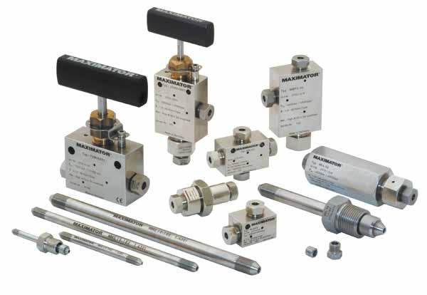Valves, fittings and tubing up to 10,500 bar (152,000 psi): Needle valves, fittings and pipes (1/4 1 ) 2-way and 3-way ball valves (1/4 9/16 )