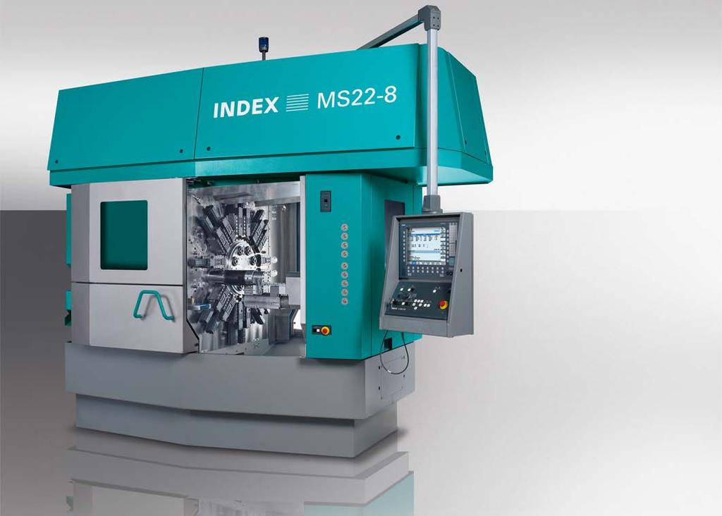 Product Information INDEX CNC Multi-Spindle Automatic Lathe Even more efficient with eight spindles The Esslingen multi-spindle specialists supplement the MS22C series by an 8-spindle CNC production