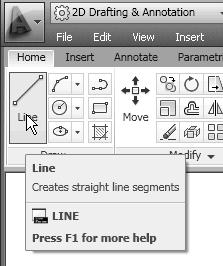 Orthographic Views and Multiview Constructions 4-31 3. Select the Line command icon in the Draw toolbar. In the command prompt area, the message _line Specify first point: is displayed. 4. In the Object Snap toolbar, pick Snap From.