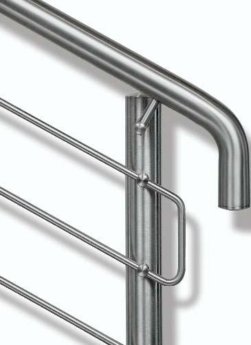 Handrails and Balustrades Stainless steel Circum - elegant effect The circum handrail and balustrade system effortlessly fulfils the highest function and design standards.