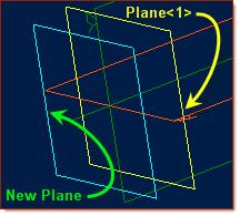 In the Insert Plane popup, confirm Plane<1> is