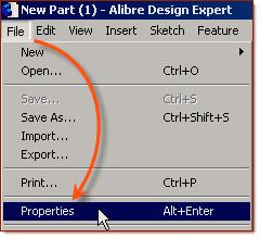 Select File, Properties.