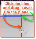 the line of Plane<2>.