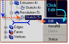 Design Explorer, Click on Edit in the drop down menu Click