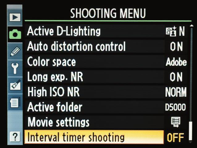 SETTING UP FOR A TIME-LAPSE VIDEO 1. First, you will need to select a mode for your shooting. I prefer to let the camera do most of the work by selecting the Program mode. 2.