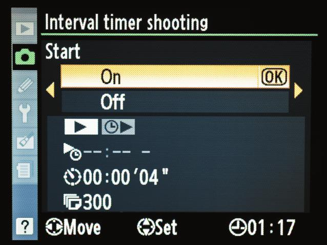 6. The next step is to select the number of total shots that you want captured.