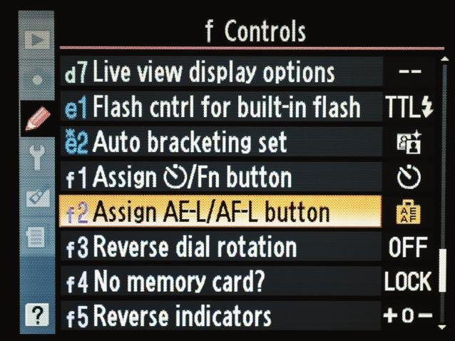Press the Menu button twice to return to camera mode and you are now ready to activate the AE Lock with a single press of the AE-L/AF-L button.