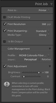 When working in Photoshop, you set your output sharpening at the very end after making all edits, making output-specific adjustments, and selecting your medium.