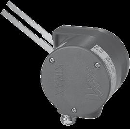 The position feedback transmitter consists of a KINAX angle transmitter and a reduction gear which converts a linear movement into an angle of rotation of 0.
