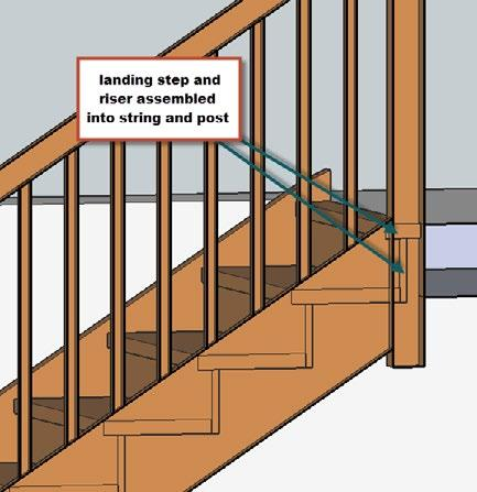 Draw sections at arrival One of the points often ignored by amateur stair builders is the optimisation of the assembly details where the stair will meet the upper floor.