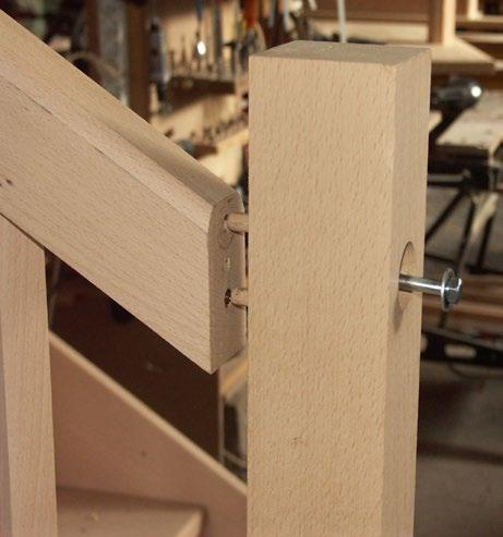How to assemble strings and handrails to newels The traditional way to assemble strings and handrails to newel posts is the mortise and tenon joint.