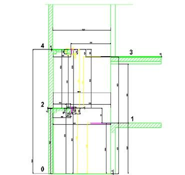 Here is an example of a more complex stairwell plan