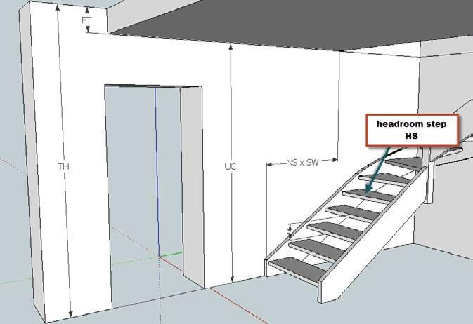 If designing a stair manually it s important to have an approximation of the position of the first step and it s necessary to calculate the approximate start of the stair according to the head room.