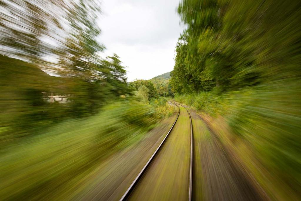 What do you think was happening with the shutter speed in this image? Was it a fast moving train? No, it wasn t. This shot is pretty interesting in its use of shutter speed.
