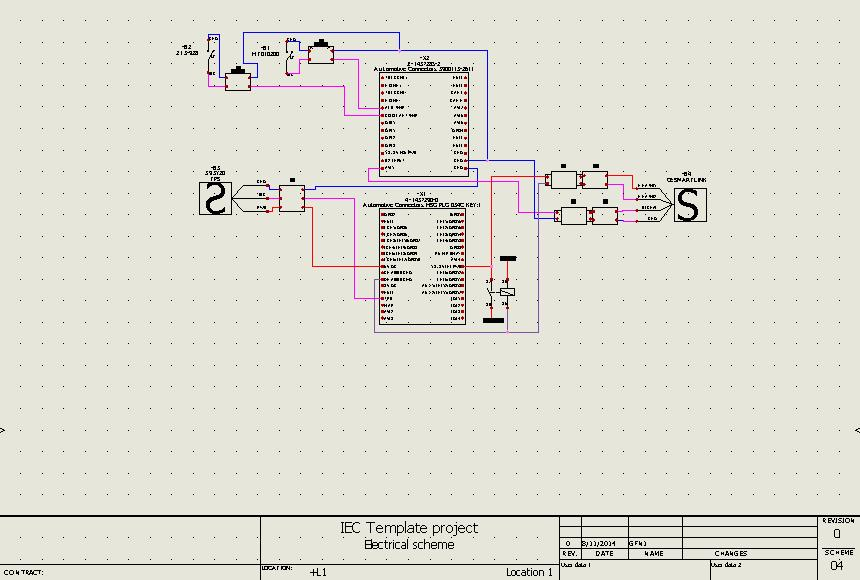 Schematics Schematics are built for power and control circuits using symbols tied to components. Single or multiple wires can be drawn between symbols and wires are numbered and trimmed automatically.