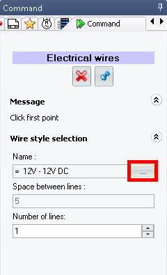 Click the Browse button. 3. The Wire style selector will open.