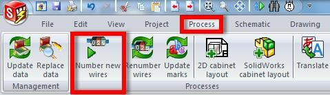 Adding Wire Numbers SolidWorks Electrical can be configured to a