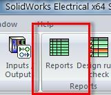 Generating Reports SolidWorks Electrical maintains a database of