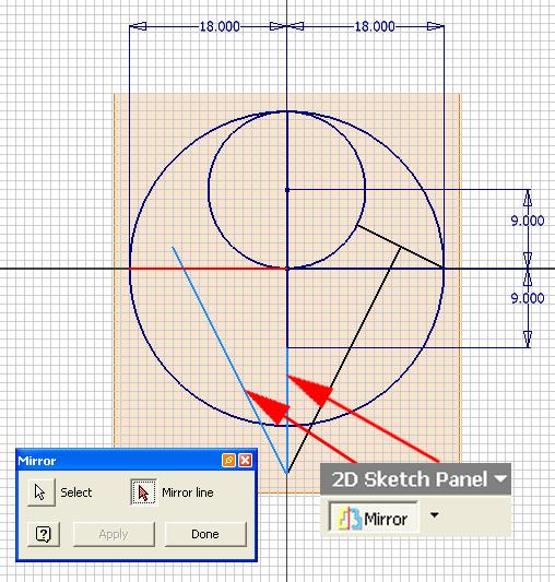 of the perpendicular bisector line on