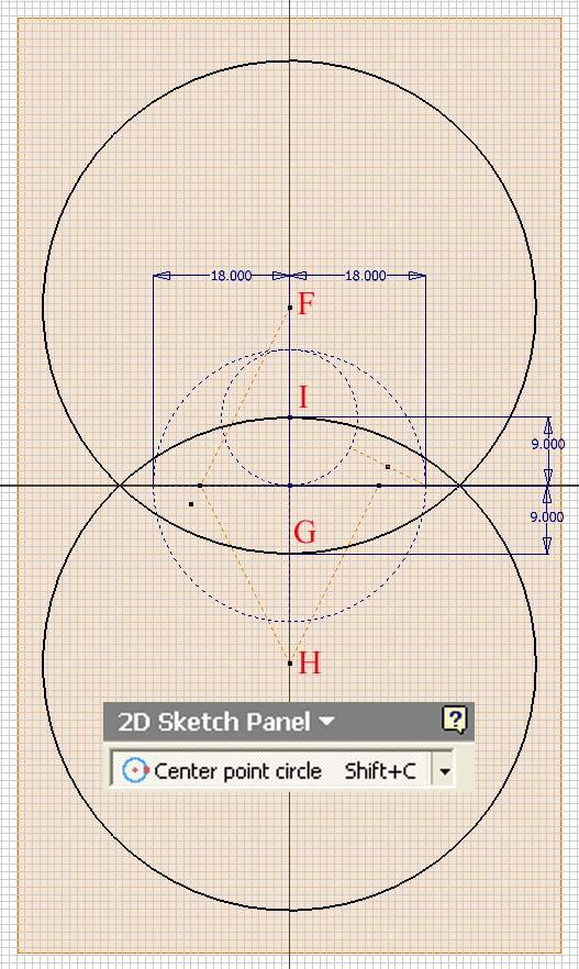 Inventor (10) Module 1H: 1H- 14 Figure 1H-4A: The large circles. Figure 1H-4B: The small circles.