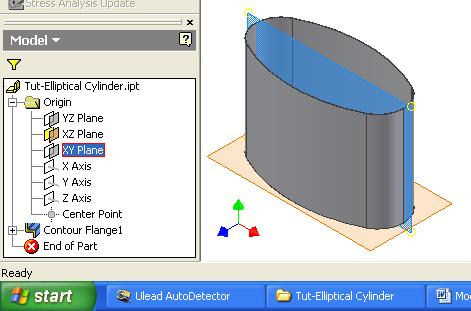Inventor (10) Module 1H: 1H- 22 Figure 1H-5C: Select the XY Plane feature from the Model panel to start a new