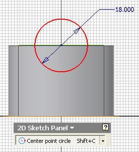 Inventor (10) Module 1H: 1H- 23 option for Direction (red circled); click the Profile button and click-select the