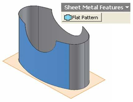 Standard tool bar (Figure 1H-6B); the Flat Pattern view