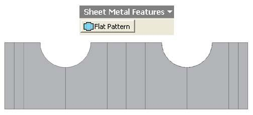 Figure 1H-5K: Switching to the Sheet Metal Features.